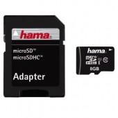 Card microSDHC 8GB class 10 +adaptor HAMA