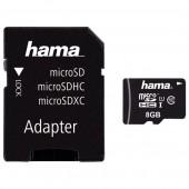 Card de memorie microSDHC 8GB Clasa 10 UHS-I 45MB/S + adaptor HAMA