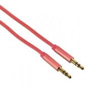 Cablu audio Jack-Jack 3.5mm pentru smartphone Gold-Plated 1.5m rosu HAMA Color