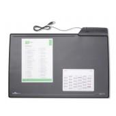 Mapa de birou 43.50 x 68.00cm negru cu 4 porturi USB DURABLE