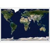 Mapa de birou 70 x 50cm harta Lumii - vedere din satelit STIEFEL