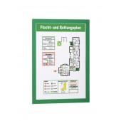 Buzunare pentru afisare adezive magnetice A4 2 bucati/set verde DURABLE MagaFrame