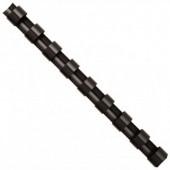 Inele din plastic pentru indosariere 12mm negru 100 bucati/cutie FELLOWES