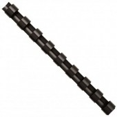 Inele din plastic pentru indosariere 14mm negru 100 bucati/cutie FELLOWES