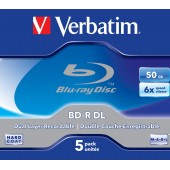 Disc Blu-Ray dual-layer 6x 50GB VERBATIM Print Jewel Case