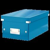 Cutie pentru DVD-uri albastru LEITZ Click & Store