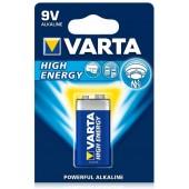 Baterie 9V alcalina VARTA High Energy