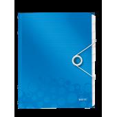 Mapa din plastic A4 12 separatoare albastru metalizat LEITZ WOW
