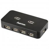 Hub USB 7 porturi negru HAMA