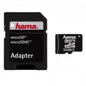 Card de memorie + adaptor HAMA microSDHC 32GB