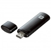 Adaptor USB Wireless Dual-Band 300 + 867Mbps negru D-LINK AC 1200 DWA-182