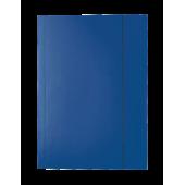 Mapa din carton plastifiat A4 cu elastic albastru inchis ESSELTE Economy
