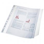 File din plastic A4 transparent cu clapa laterala 100 mic. 10 buc/set ESSELTE
