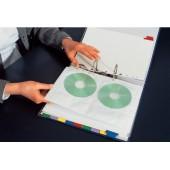 File din plastic A4 transparent pentru CD/DVD ESSELTE