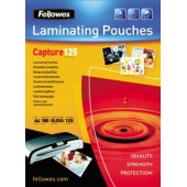 Folie laminare 75 x 105mm 125 microni 100 folii/cutie FELLOWES Capture125