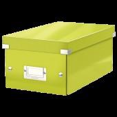 Cutie pentru DVD-uri verde LEITZ Click & Store