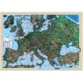 Harta plastifiata Europa fizica-coduri postale 140 x 100cm AMCO PRESS
