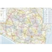 Harta plastifiata Romania administrativ-rutiera 100 x 70cm AMCO PRESS