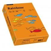 Hartie colorata A4 160 g/mp 250 coli/top portocaliu intens (intensive orange) RAINBOW