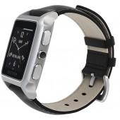 SmartWatch VECTOR Watch Meridian argintiu curea din piele neagra