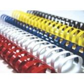 Inele din plastic pentru indosariere 10mm negru 100 bucati/cutie FELLOWES