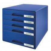 Cabinet cu sertare 5 sertare albastru LEITZ Plus
