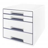 Cabinet cu sertare 4 sertare alb/gri LEITZ WOW