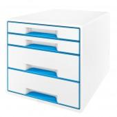 Cabinet cu sertare 4 sertare alb/albastru LEITZ WOW