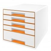 Cabinet cu sertare 5 sertare alb/portocaliu LEITZ WOW