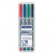 Marker non-permanent 0.4mm albastru STAEDTLER Lumocolor