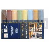 Marker cu creta 8 culori/set SECURIT SMA720