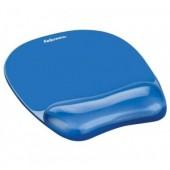 Mouse pad cu gel albastru FELLOWES Crystals