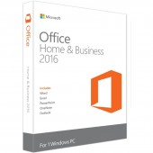 MICROSOFT OFFICE Home and Business 2016 32/64 bit English EuroZone Medialess retail