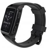 SmartWatch VECTOR Watch Meridian negru mat curea neagra din silicon