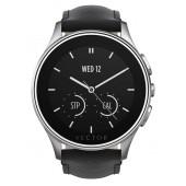 SmartWatch VECTOR Watch Luna argintiu curea din piele neagra