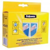 Set 12 seturi de servetele pentru curatare monitor FELLOWES