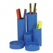 Suport de birou 6 compartimente albastru FLARO