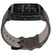 SmartWatch VECTOR Watch Meridian negru satinat si curea maro din piele