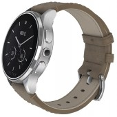 SmartWatch VECTOR Watch Luna argintiu curea bej din piele