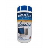 Servetele umede pentru curatare suprafete din plastic, 100/tub, DATA FLASH