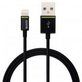 Cablu de date LEITZ Complete Lightning, port USB, 0.3m - negru
