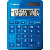 Calculator birou, 12 Digits, CANON LS 123 color , 145 x 104 x 25 mm - bleu