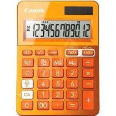 Calculator birou, 12 Digits, CANON LS 123 color , 145 x 104 x 25 mm - orange
