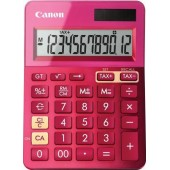 Calculator birou, 12 Digits, CANON LS 123 color , 145 x 104 x 25 mm - roz