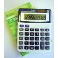 Calculator 12 dig, cu 4 taste de memorie si GT, culoare gri, display in cadru bleu, taste negru cu g