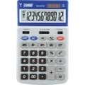 Calculator 12 dig. ecran rabatabil cu 4 taste de memorie , culoare gri, display in cadru albastru