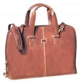 Geanta dama, din piele maro, pentru laptop, 42 x 30 x 12cm, TONY PEROTTI - Versilia Collection