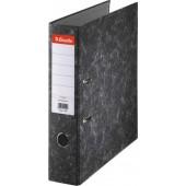 Biblioraft A4, margine metalica, 75mm, ESSELTE Togo - marmorat cu cotor negru