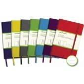 Caiet cu elastic, coperti rigide, 140 x 215 mm, 96 file - 80g/mp, hartie cream, AURORA - dictando