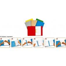 Dosar carton color cu alonja arhivare de mare capacitate, JALEMA Secolor - albastru
